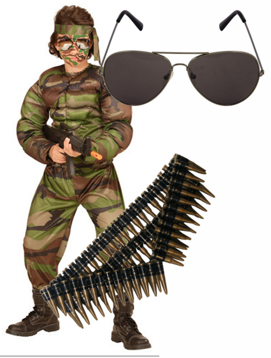 Childrens Ceremonial Soldier Fancy Dress Costume Military Army Outfit Childs M