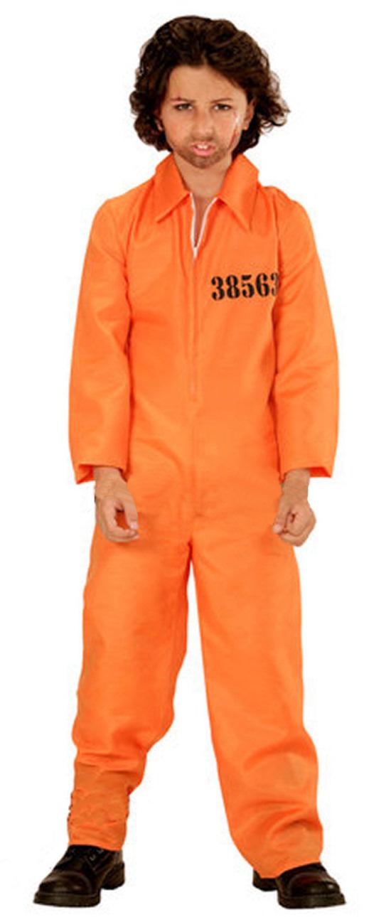 Details about Orange County Jail Boiler Jump Suit Prison Convict Boys Kids  Fancy Dress Costume