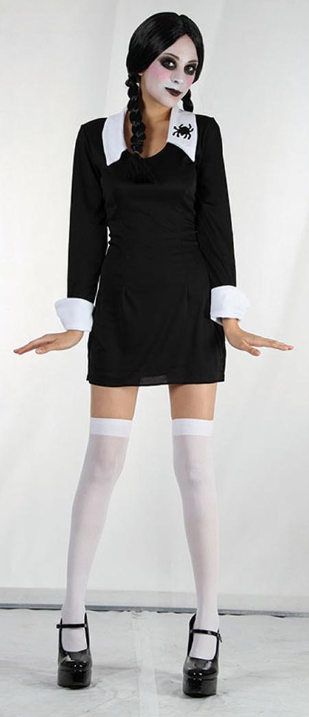 CHILDRENS KIDS GIRLS BLACK PLAITS WIG PAINT HALLOWEEN SCHOOL FANCY DRESS COSTUME