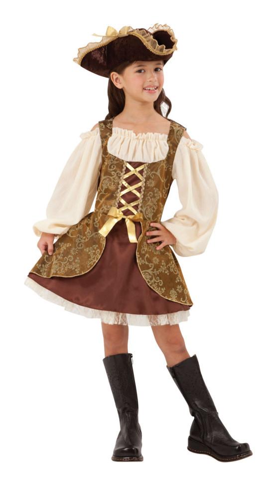 Size Childrens. Pirate 5 Piece Fancy Dress Costume